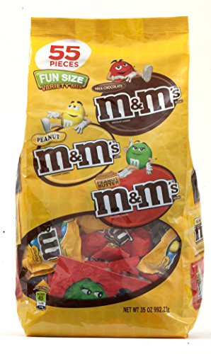 M&M'S Variety Mix Chocolate Candy Fun Size 35-Ounce 55-Piece Bag by M&M's