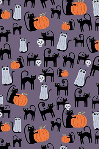 Notes: A Blank Guitar Tab Music Notebook with Cute Halloween Cats Cover Art