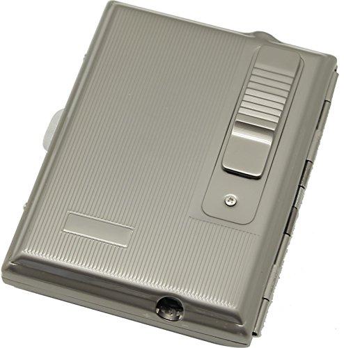 Legendex Elegance Metal Cigarette Case Built-In Turbo Lighter 06-30-104