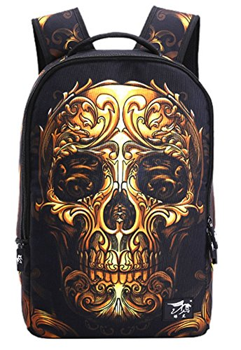 YAAGLE Skull 22L Personality Creative Printing Backpack for
