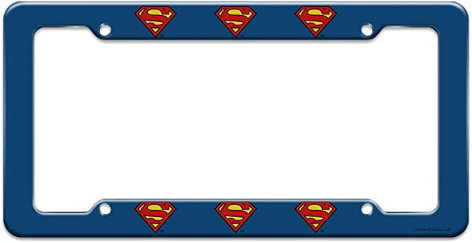 Graphics and More Superman Thin Blue Line Flag Shield Logo License Plate Tag Frame