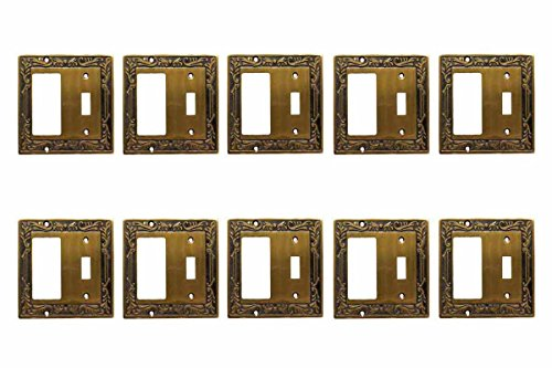 - Victorian Antique Brass Switchplate Plate Toggle GFI Antique Brass