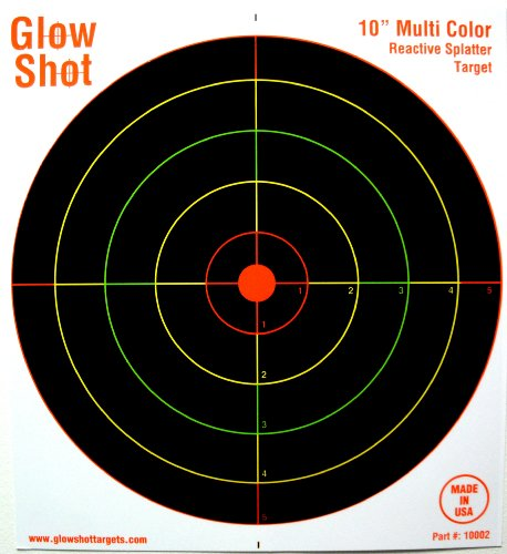 50 Pack – 10″ Reactive Splatter Targets – Glowshot – Multi Color – Gun and Rifle Targets – Glow Shot, Outdoor Stuffs
