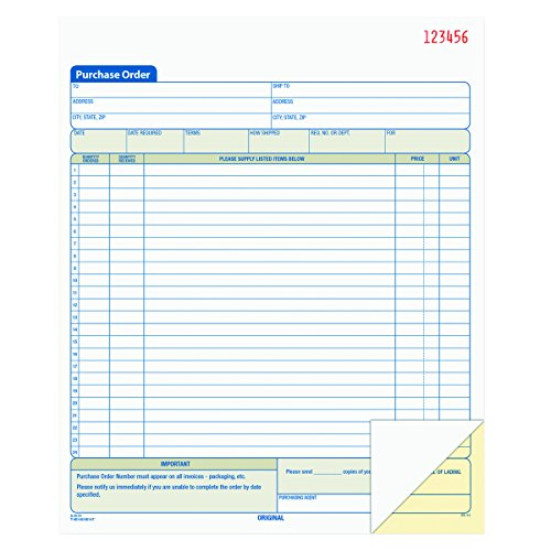 Tops Purchase Order (TOPS Purchase Order Book, 2-Part, Carbonless, 8-3/8 x 10-3/16 Inches, 50 Sets per Book (46146))