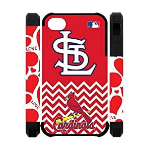 Active MLB St. Louis Cardinals Apple Iphone 4S/4 Case Cover Dual Protective Polymer Cases Baseball Series Chevron by mcsharks