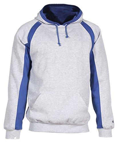 - Adult Hook Hooded Blended Fleece. (Oxford/Royal) (X-Large)