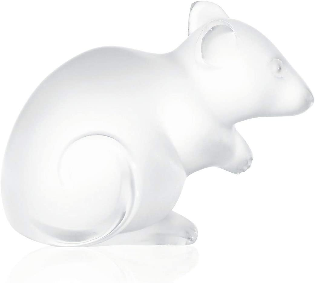 Lalique 1068000 Mouse Figurine, Clear