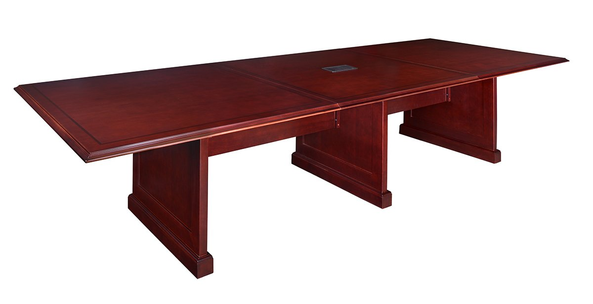 Amazon.com: Regency Prestige 144 Inch Modular Conference Table With Power  Data Grommets, Mahogany: Kitchen U0026 Dining