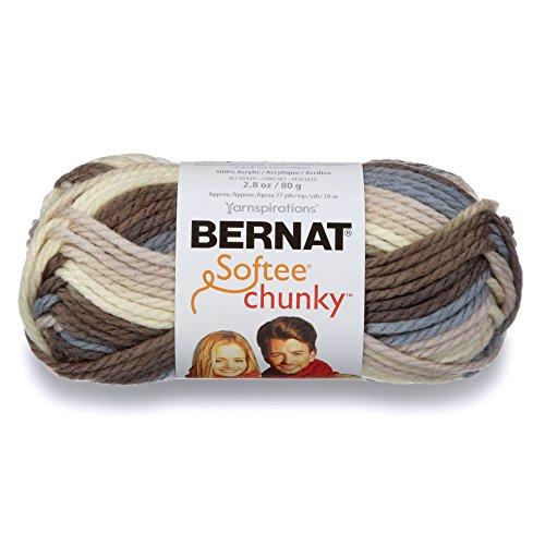 Bernat Softee Chunky Ombre Yarn – (5) Bulky Chunky Gauge 100% Acrylic – 2.8 oz