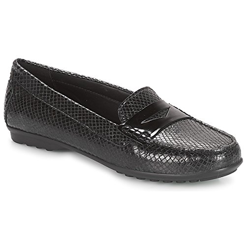 Geox D Elidia A, Mocassins (Loafers) Femme Noir (Black C9999)