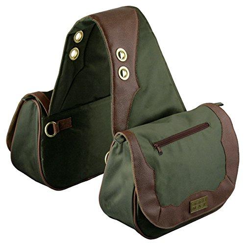 TrailMax Sun River Collection Pferde Satteltasche, Packtasche, grün-braun