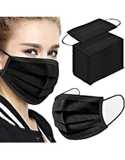 50Pcs Safety Masks - 3 Layer Disposable Protective Face Masks with Nose Clip and Ear Loops,Shipped from Australia