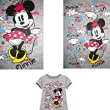 DISNEY MINNIE MOUSE T SHIRT TEE Girls Grey