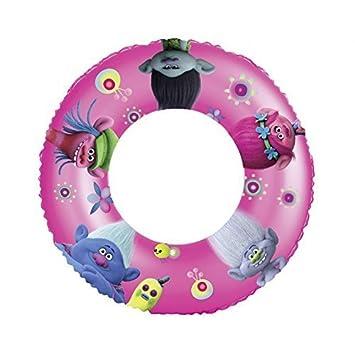 Flotador / Anillo flotante de Imágenes de DreamWorks Trolls Amapola, Rama, Cooper, Guy Diamante y Biggie Diámetro Aprox. 50 cm en rosa - púrpura: Amazon.es: ...