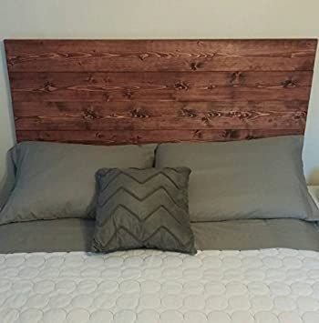 Queen Red Mahogany Rustic Chic Wood Headboard