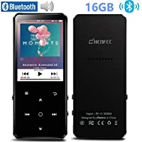 HONGYU 16GB Bluetooth 4.0 MP3 Player with 2.4 Inch TFT Color Screen,Lossless Sound Metal Music Player with Speaker,FM Radio/Voice Recorder,Backlight Touch Button Support Up to 128GB, Black