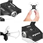 Cheerwing Syma X20 Mini Drone for Kids and Beginners RC Nano Quadcopter with Auto Hovering 3D Flip(Black)