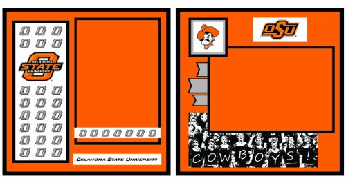 UNIFORMED Oklahoma State University 2-Page Layout Decorative Paper, 12 by 12-Inch