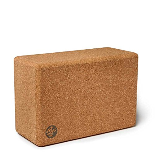 Manduka Unisex Cork Yoga Block Natural Yoga Block One Size