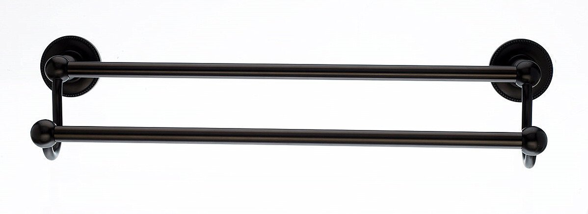 50%OFF Top Knobs ED11ORBA Bath Edwardian Collection 30 Inch Double Towel Bar with Beaded Backplate, Oil Rubbed Bronze Finish