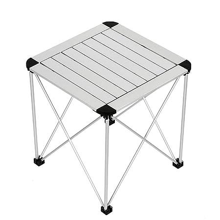 ZSLLO Mesa plegable portátil para acampar, Ligera de aluminio ...