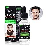 Beard Growth Oil, Sky-shop Natural Organic Hair Growth Oil Beard Oil Enhancer Facial Nutrition Moustache Grow Beard Shaping Tool Beard Care Products Hair Loss Products (30ml)