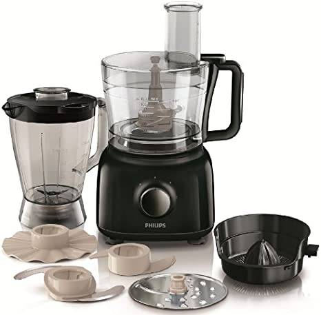 Philips Daily HR7629/90 - Procesador Alimentos, 650 W, 9 Accesorios, 2 Velocidades, Color Negro: Amazon.es: Hogar