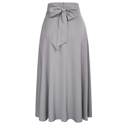 ERLIZHINIAN Faldas de Talle Alto for Mujer Plisado una línea Falda ...