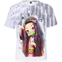 QCYISI Manga Corta de Las Camisetas Kimetsu No Yaiba TV Ropa de la Fan, para Pareja Desgaste de Hombres Mujer Sudadera…