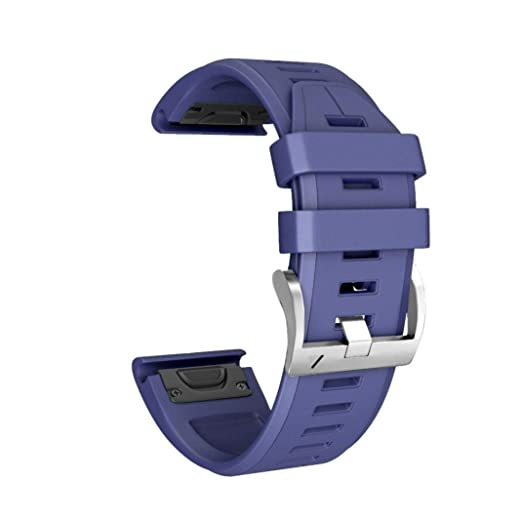 59158d0c015 Replacement Watch Bands Binmer Soft Silicone Quick Release Easy Fit  Wristband Strap for Garmin Fenix 5