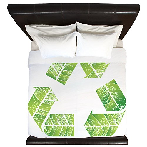King Duvet Cover Recycle Symbol in Leaves hot sale