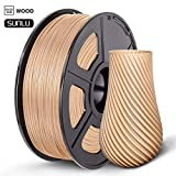 SUNLU Wood PLA 3D Printer Filament, Dimensional Accuracy +/- 0.02mm, 1.75 mm, 1 kg Spool, Real Wood Filament