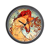 Cheap CafePress – Alphonse Mucha Summer – Unique Decorative 10″ Wall Clock