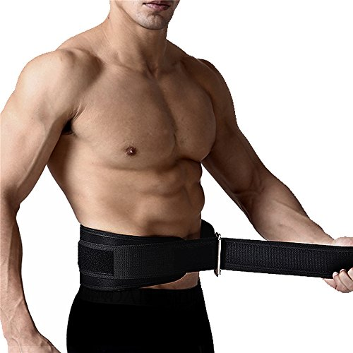 "FITVC Weight Lifting Belt 6"" High Performance Heavy Duty Core Weightlifting Powerlifting Squat Belt Back Support Protector Adjustable for Men and Women"