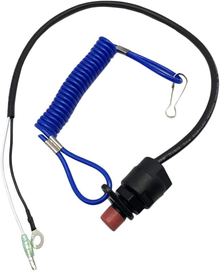 Prettyia Emergency Stop Switch with Lanyard for Outboards