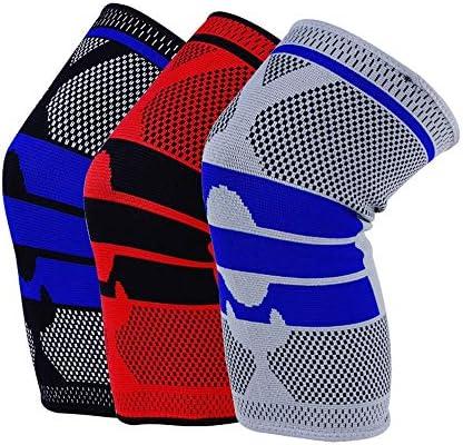 膝パッド スケートニーパッド大人の通気性の調節可能なアラミド繊維モトクロスマウンテンバイクサイクリングスケートボード (色 : 赤, サイズ : M)