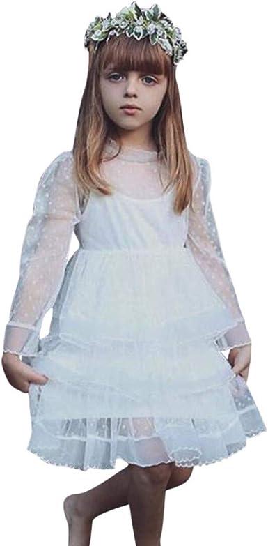 Vestido para Princesa, Vestido de Manga Larga de Tul Falda para ...