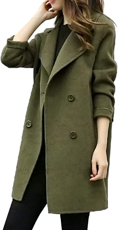 Plus Size Women/'s Winter Long Jacket Trench Coat Blazer Parka Overcoat Outwear