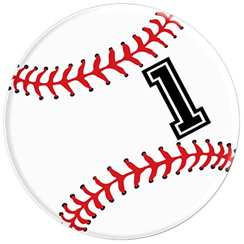 Baseball Player #1 No 1 Baseball Pit Sports Boy Girl Gift - PopSockets Grip and Stand for Phones and Tablets
