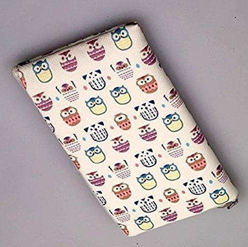 Reissverschluss Handytasche Softcase Eulen geeignet für Huawei Honor View 10 - Handy Schutz Hülle Slim Case Cover Etui Tasche