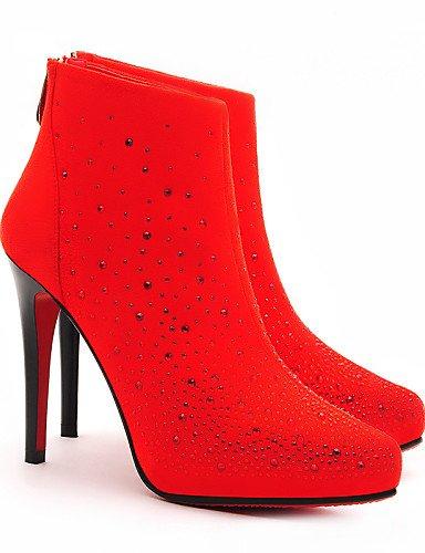 Cn35 Eu39 Eu36 Noche Cn39 A Stiletto 5 5 Y Tacones La De Fiesta Botines us5 Black Mujer Xzz Casual Uk3 negro Vestido Sintético Zapatos Red Uk6 Botas Tacón us8 Moda wCWZRF
