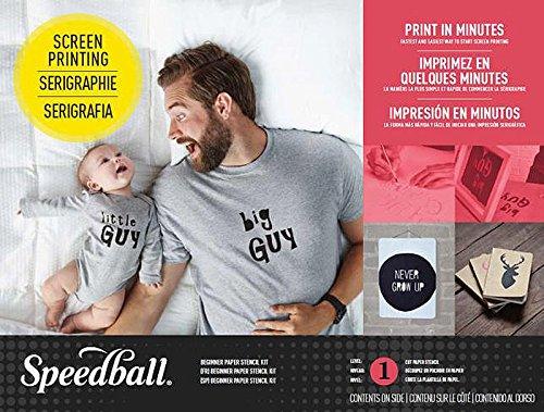 Speedball 045061 Beginner Paper Stencil Screen Printing Kit by Speedball