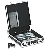 Vaultz Locking Media Binder, 200 CD/DVD Capacity, Black with Chrome Accents, 14 x 4.5 x 12.75 Inches (VZ01076)