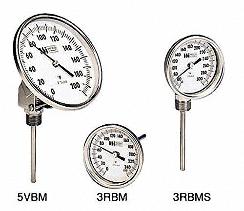 Weiss Instruments, Inc. 3RBM60250 3in Dial Bimetal Therm 0 250F 6in Stem R