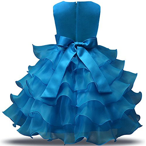Merletto Capretti Del Sposa Dei Del Blu Ragazza Fiore Vestito Da Increspature Nnjxd Vestiti Partito 4PTqn66