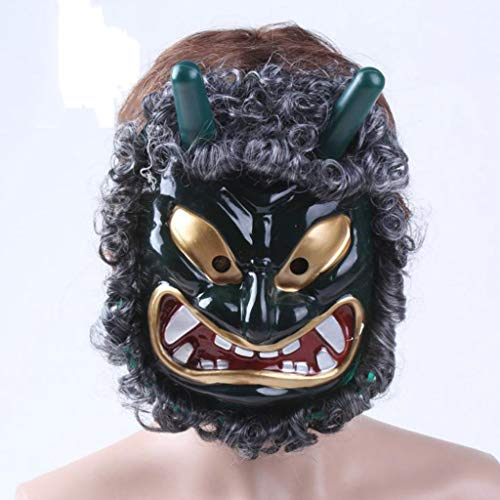 SKSNBMJ Horror Hair mask Halloween Ghost mask Masquerade Party mask]()