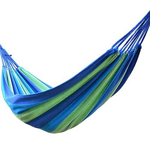 ezyoutdoor-blue-stripes-one-person-canvas-ultralight-camping-hammock-portable-beach-swing-bed-for-ba