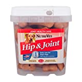 Nutri-Vet Hip and Joint Peanut Butter Wafer with Glucosamine for Large Dogs, 2 Pound, My Pet Supplies