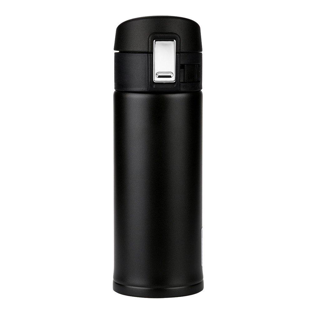 Reasoncool Men Women Unisex Children FL-B029 High Grade Bounce Cover Coffee Tea keep Warm 350ML Water Cup (Black)