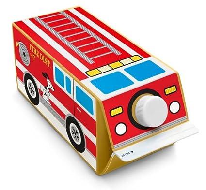 Caja Play para niños camión de bomberos pegatinas de cartón de leche